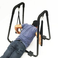 Dip Stand Self Standing Dipping Station w/ Straps Tricep Shoulder Power Station - Walmart.com