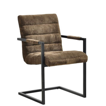 Halsten Arm Chair - Mocha Fabric