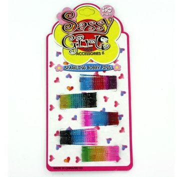 Sparkling Bobby Pin Set ( Case of 72 )