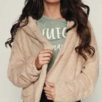 Game Changer Cropped Jacket (Taupe)