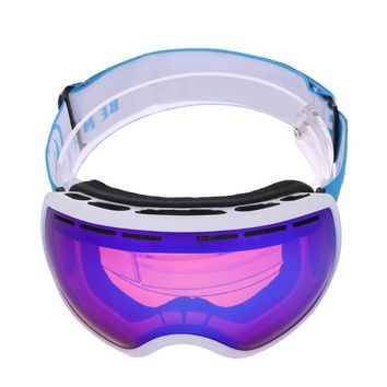 Ski Goggles Double Layers Anti-Fog UV Ski Eyewear Winter Windproof Snowboard Glasses Skiing Goggles Snowboarding Glasses Adult