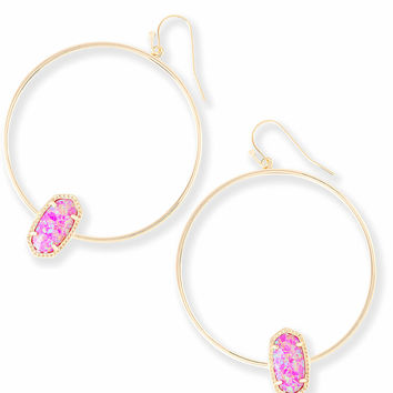 Elora Hoop Earrings in Fuchsia Kyocera Opal | Kendra Scott