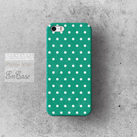 Seagreen Polka dot, Samsung Galaxy S4 3D-sublimated Unique design iPhone 4/4S case iPhone 5/5S case.