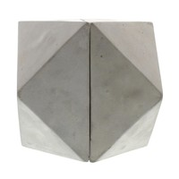 Geometric Cement Book Ends - Cubeoctahedron