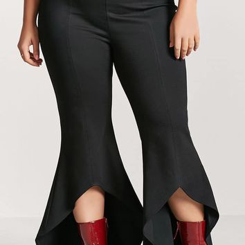 Plus Size High-Waist Flare Pants
