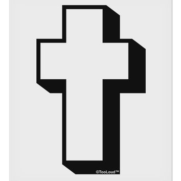 """Simple Cross Design Black 9 x 10.5"""" Rectangular Static Wall Cling by TooLoud"""