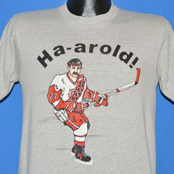 80s Ha-Arold! Detroit Red Wings Harold Snepsts t-shirt Small