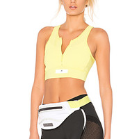 adidas by Stella McCartney Run Adizero Crop Top in Aero Lime | REVOLVE