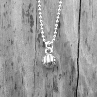 Solid Sterling Silver Volleyball Necklace