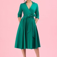 The Pretty Dress Company Taylor Emerald Wrap Dress