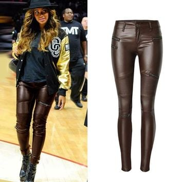 Faux Leather Pants I