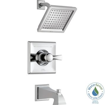 Delta Dryden 1-Handle Tub and Shower Faucet Trim Kit in Chrome (Valve Not Included)-T14451-WE - The Home Depot