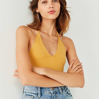 UO Dion Plunging Halter Neck Tank Top | Urban Outfitters