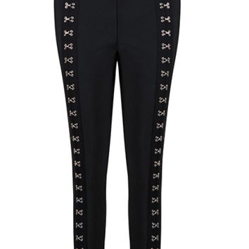 Elma Black Eyelet Leggings