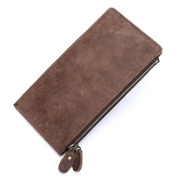 unisex retro handmade genuine leather wallet card hold purse 04 2