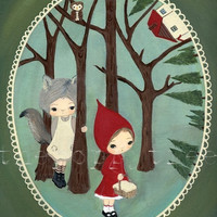 Little Red Riding Hood Print