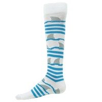 Shark Knee High Socks - Wave Socks - CrossFit socks - Sport Socks - Softball - Soccer