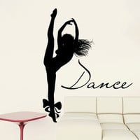 Dance Wall Decal Vinyl Sticker Decals Ballet Dancing Ballerina Acrobatics Gymnastics Wall Decal Quote Wall Decor Dance Studio Decor Art ZX8