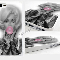 case,cover fits iPhone and samsung models>Marilyn Monroe/gum/VTG/Vintage/tattoo