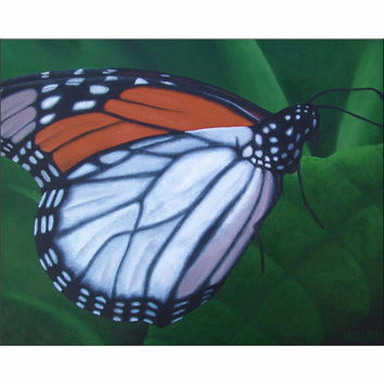 Monarch - Giclee Print of Butterfly Acrylic Paint Fine Art
