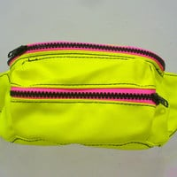 Neon Yellow Fanny Pack