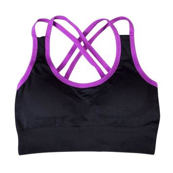 Cross-Back No Rims Sports Bra