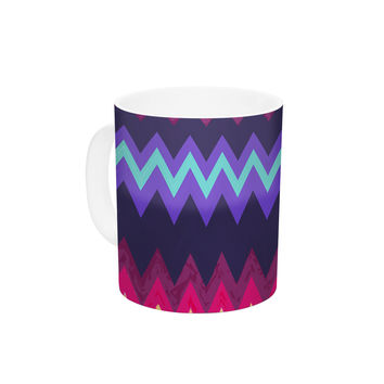 "Nika Martinez ""Surf Chevron"" Ceramic Coffee Mug"