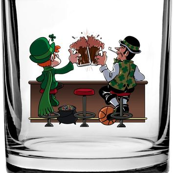 Irish Drinking Charm and Basketball Buddies - 3D Color Printed Scotch Whiskey Glass 10.5 oz