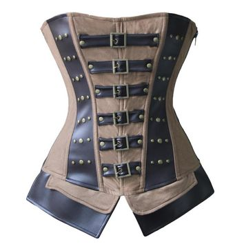 Atomic Mad About Steam Steel Boned Overbust Corset