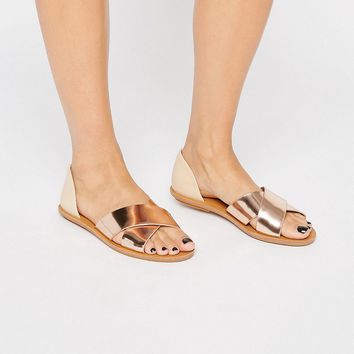 London Rebel 2 Part Flat Sandal