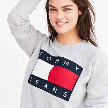 08189c96 Tommy Jeans For UO 90s Logo Sweatshirt Mini Dress - Urban Outfitters