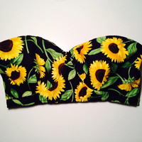 Sunflower Bustier Bra Top