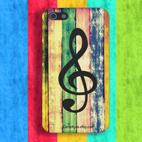 Colorful music note case iPhone 4,4S,5 iCaruz made to order