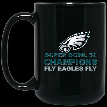 Super Bowl 52 Champions Fly Eagles Fly BM15OZ 15 oz. Black Mug