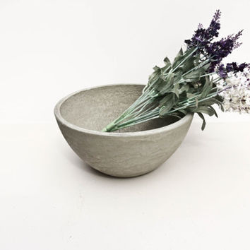 Grey Concrete Fruit Bowl - Basic Range - Plain Grey, Grey/White, Grey/Black