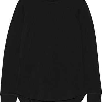 Helmut Lang - Cotton and cashmere-blend jersey top