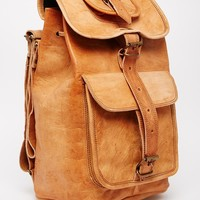 Reclaimed Vintage Leather Long Strap Backpack at asos.com