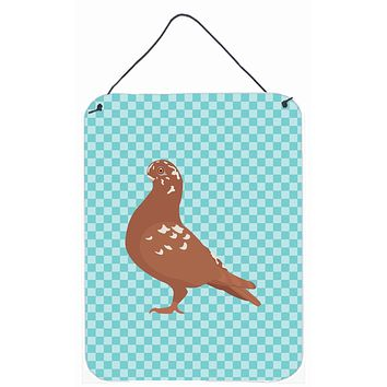 African Owl Pigeon Blue Check Wall or Door Hanging Prints BB8127DS1216