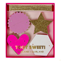 MERI MERI TOOT SWEET PINK AND GLITTER GARLAND