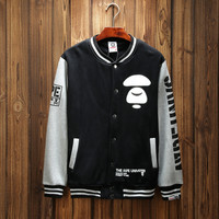 'BAPE' Sports Hot Deal On Sale Couple Winter Patchwork Baseball [10425657415]