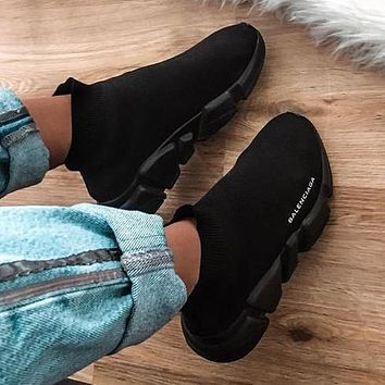 Balenciaga Trendy Woman Men Boots Fashion Breathable Sneakers Running Shoes