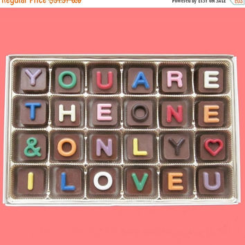 Anniversary Gifts for Men Women Valentines Day Gift for Girlfriend Boyfriend Gift You Are The One And The Only I Love You Chocolate Letter
