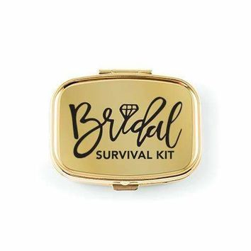 Bridal Survival Small Gold Pocket-Purse Pill Box (Pack of 1)