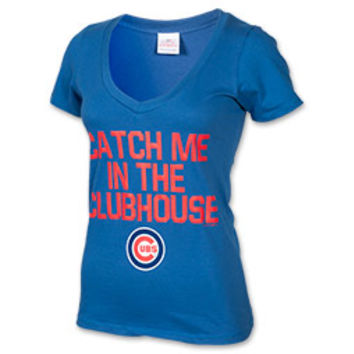 Women's New Era Chicago Cubs MLB Catch Me In The Clubhouse T-Shirt