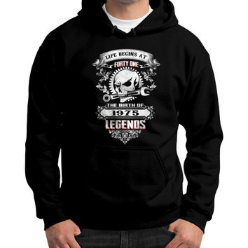 The birth of legends 1975 Gildan Hoodie (on man)