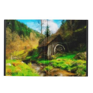Retro Old Mill In Mountain Valley On Small River Powis iPad Air 2 Case