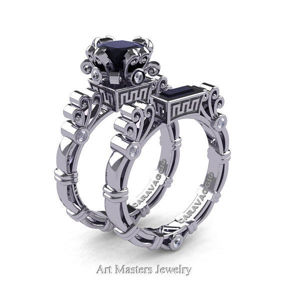 0116c0d3dfe86f Art Masters Caravaggio 14K White Gold 1.5 from artmasters on Etsy
