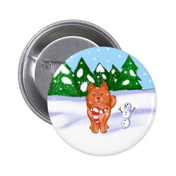 Snow Puppy Button