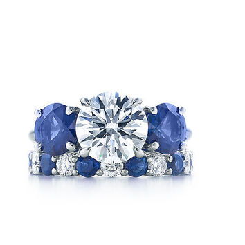 Tiffany & Co. | Engagement Rings | Three Stone With Sapphire Side Stones | United States