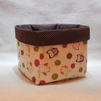 Adorable Owl Large Fabric Basket
